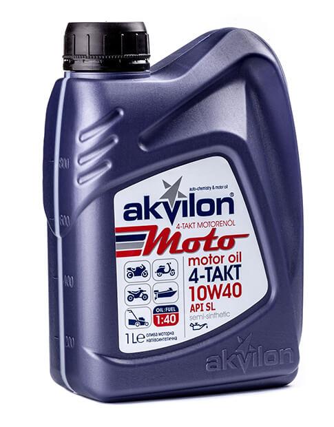 полусинтетическое масло Akvilon Moto 10W-40 4 TAKT
